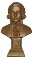 Mozart - 12 cm Gold bronziert